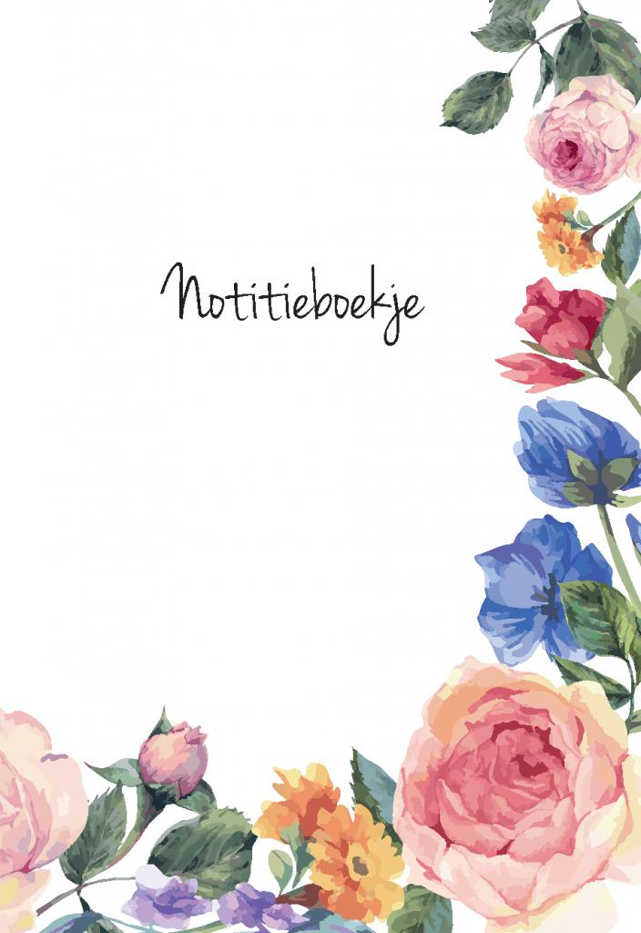 Notitieboekje bloemen