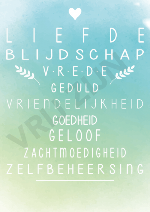 Poster 3 | Liefde, blijdschap, vrede